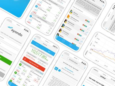 Social Trading app fintech mobile app trading ux ui