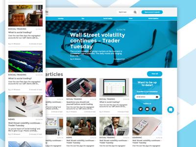 Blog responsive blog fintech mobile app trading ux ui