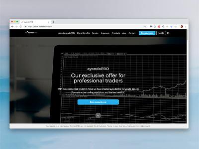 Ayondo Pro fintech web ux ui