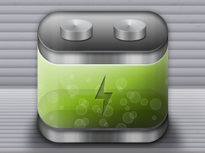 Battery icon ios battery illustration ux design ux iphone appicon app