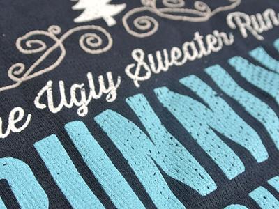The Ugly Sweater Run Shirt ugly sweater race holiday tshirt 5k run