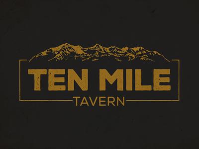 Ten Mile Tavern Logo ten mile branding logo identity