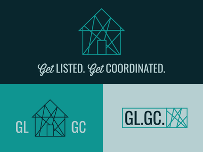 Get Listed. Get Coordinated. real estate identity branding logo