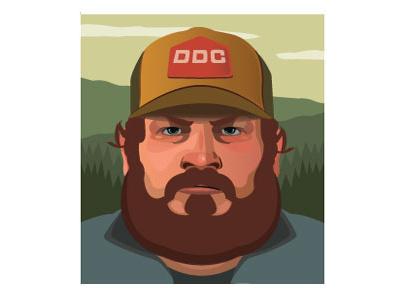 Draplin uiux forest beard vector illustration portrait draplin