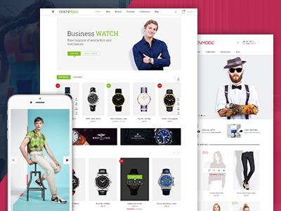 Orenmode - Responsive Magento Theme  responsive ecommerce magento theme fashion store watches store bag store