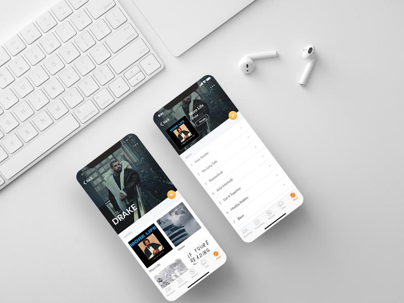 Artist Profile design interface album profile song mobile ios music ui artist app