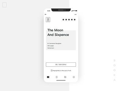 Booklist App Redesign - Book Detail reading app interface book design ui minimal booklist