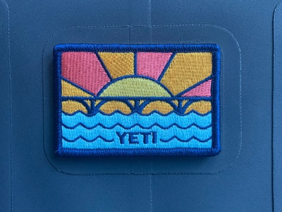 YETI WILD Committee Patch embroidered patch patch design yeti sunset bridge austin south congress austin texas illustration