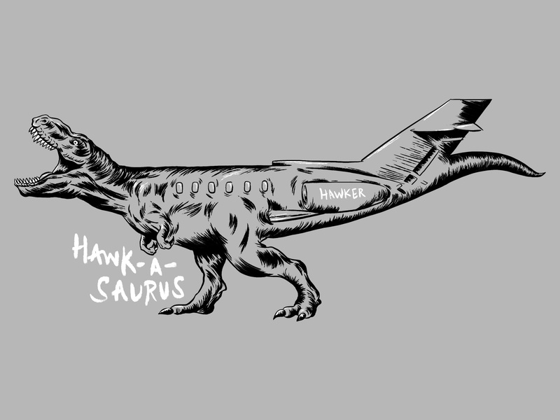 Hawk-A-Saurus Tee photoshop brushes photoshop illustration true grit texture supply brushpen brush pen brush lettering tyrannosaurus t-rex
