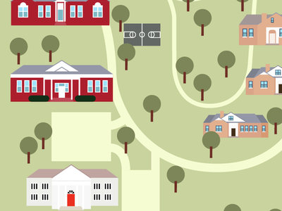 Campus Map vector illustration