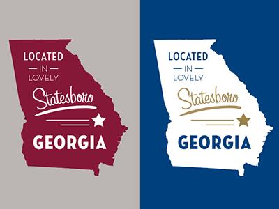 Lovely Georgia vector state georgia