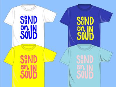 SOS Fest T-Shirt Contest soundonsound handlettering vector t-shirt