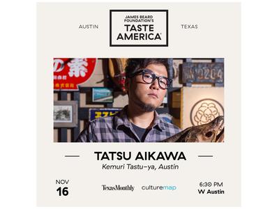 James Beard Foundation Austin Gala Chef Card chef culinary arts non-profit social media post