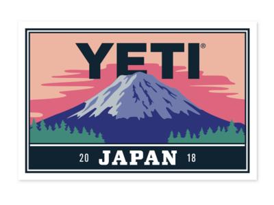 YETI Takes Japan sticker design mt. fuji fujiyama fujisan wilderness yeti sunrise mountain mount fuji japan