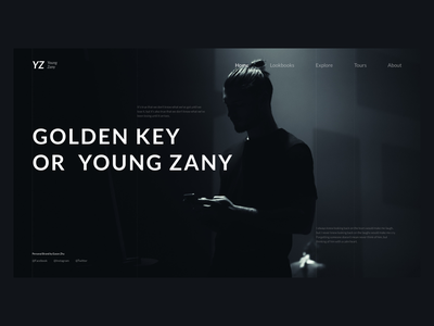 Young Zany Brand Design Part N/A green blue branding cold ux ui design fashion website brand dark web