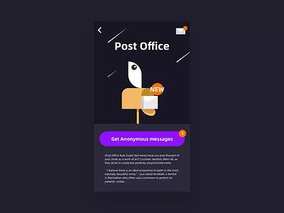 Letter Feature post motion design ux ui interactive interaction dark letter motion