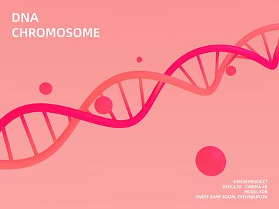 DNA red 3d chromosome dna pink motion animation model c4dart c4d
