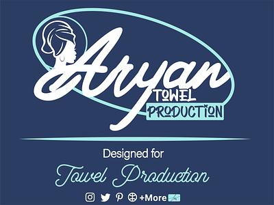 Towel Logo towel vector typography logo iran illustration graphic design design branding