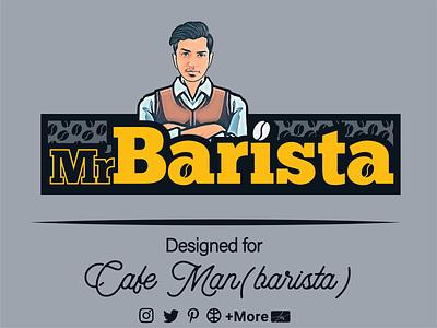 Barista Logo (Coffee Shop) photo barista caffee coffee shop coffeeshop cafe vector ui typography logo iran illustration graphic design design branding