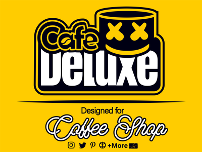 Coffe Shop Deluxe luxe caffee caffee shop cafe ui vector typography iran illustration design 3d motion graphics graphic design branding logo marshmello