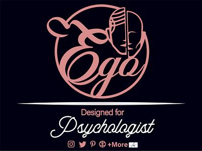 Psychology Logo graphic design branding ui psychology book logo typography