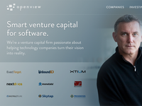 VC Fund Homepage Concept