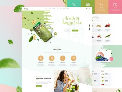 Oars - Organic Smoothie Homepage vegetables smoothie sea food template organic store organic healthy food fruits fresh food fresh food shop