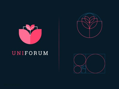 UNIFORUM | Golden Ratio logo unique logo unique design logo minimal brand flat creative logo branding logodesign golden ratio