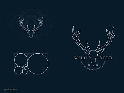 WILD DEER | GOLDEN RATIO LOGO golden ratio logo goldenratio logo minimal flat brand creative logo branding logodesign