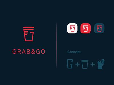 GRAB&GO | Resturant logo design logo minimal brand flat creative logo branding logodesign