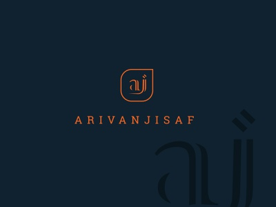 PERSONAL LOGO | aj name logo personal logo logo minimal flat brand creative logo branding logodesign