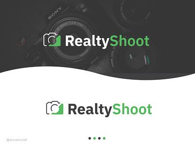 Realty Shoot | website logo photographylogo weblogo illustration design logo minimal brand flat creative logo branding logodesign