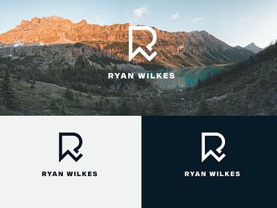 RYAN WILKES | YouTube channel logo wordmark logo personal logo channel logo youtube logo logo minimal brand flat creative logo branding logodesign