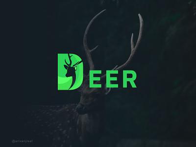 DEER | WILD LOGO deer illustration design logo minimal flat brand creative logo branding logodesign