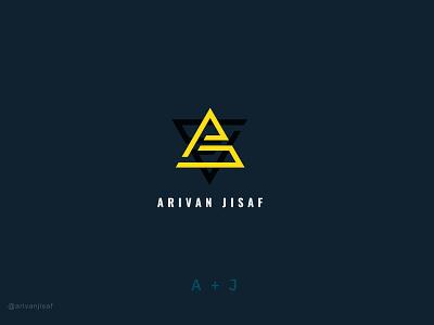 A+J | PERSONAL LOGO initial logo word mark personal logo minimal logo flat logo design creative logo branding logodesign