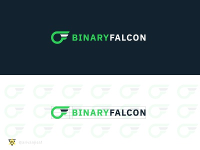 BINARY FALCON | CODING LOGO fltalogo websitelogo codinglogo minimal brand flat creative logo branding logodesign