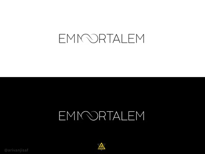 EMMORTALEM illustration design flat logo minimal brand creative logo branding logodesign