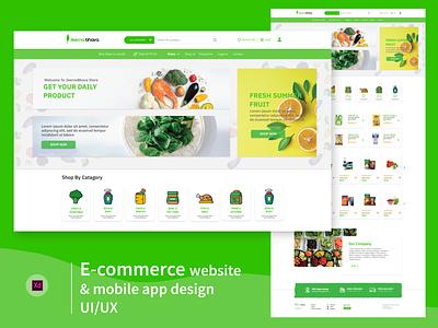 E-commerce website | UI/UX user interface simple clean minimal website design e-commerce user experience ui branding