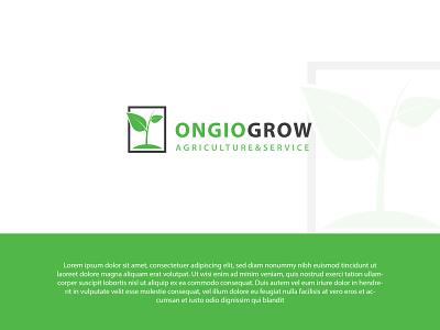 ONGIOGROW | LANDSCAPE LOGO ui illustration design logo flat brand minimal creative logo logodesign branding