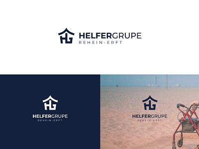 HELFERGRUPE | MINIMAL LOGO orphan homeless illustration design flat logo brand minimal creative logo logodesign branding