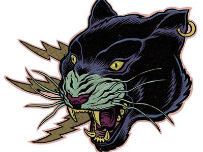 Sticker Mule Giveaway! Free charms savage animal vintage old comic retro black panther panther sticker sticker mule
