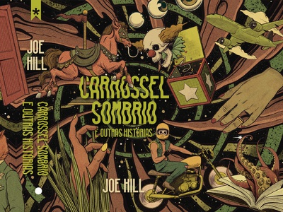 Full Throttle fun retro vintage cosmos cosmic circus carousel horror book terror stephen king joe hill full throttle