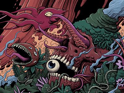 Pop Evil cover album: Versatile art music art drawing illustration psychedelic skull hell monster terror horror packaging package rock music