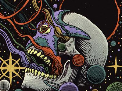 Star power horror terror moleskine sketchbook stars eclipse comics skull planets galaxy science sci-fi scifiart cosmos star
