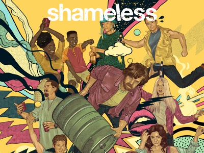 Shameless cbs art poster art graphicdesign poster shameless tv show showtime