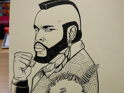Mr. T mand made comics 80s ink doodle sketch moleskine character