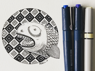 🐟 moleskine doodle fish sketchbook sketch inktober2017 inktober ink illustration
