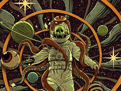 Infinite Worlds Magazine 3 terror horror star stars planets eye comics pulpo vintage vortex spiral octopus skull cosmos sci-fi sci fi scifi saturn galaxy space