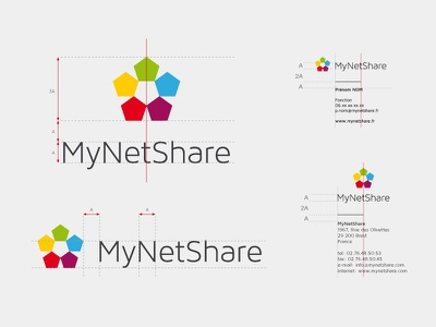 Mynetshare logotype colorful guidelines my net share
