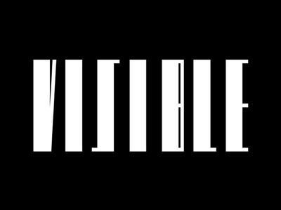 Visible visible black white stripes logo logotype identity safety road